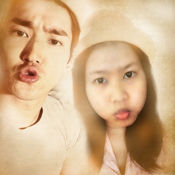me and siwon vintage